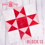 Free Stitch Pink Sampler Block 13 - Rock n' Roll