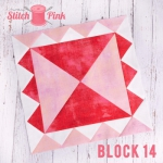 Free Stitch Pink Sampler Block 14 - Along Comes Mary