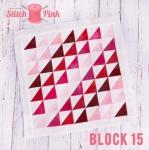Free Stitch Pink Sampler Block 15 - Tweet Tweet