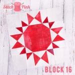 Free Stitch Pink Sampler Block 16 - Just Call Me A Diva