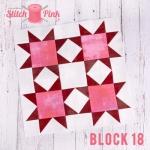 Free Stitch Pink Sampler Block 18 - Catch a Falling Star
