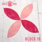 Free Stitch Pink Sampler Block 19 - Tropicana