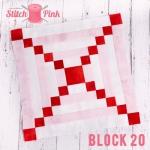 Free Stitch Pink Sampler Block 20 - Blow Me A Kiss