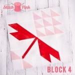 Free Stitch Pink Sampler Block 4 - Flower Power