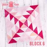 Free Stitch Pink Sampler Block 6 - Baby Boom