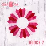 Free Stitch Pink Sampler Block 7 - Jersey Girl