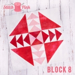 Free Stitch Pink Sampler Block 8 - Fly Away Home