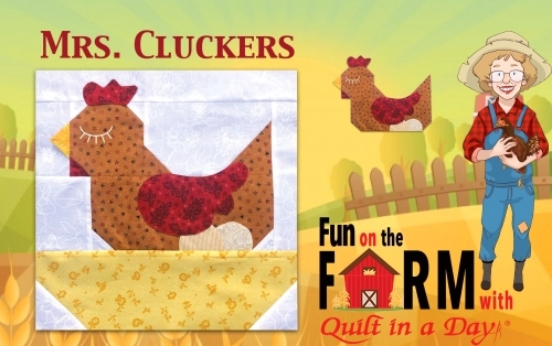 Free Mrs  Cluckers the Chicken Block Pattern Download - Fun on the