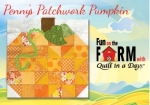 Free Pennys Patchwork Pumpkin Block Pattern Download - Fun on the Farm