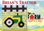 Free Brians Tractor Block Pattern Download - Fun on the Farm
