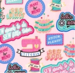 TIMELESS TREASURES - Fun - Sew Cool - Pink