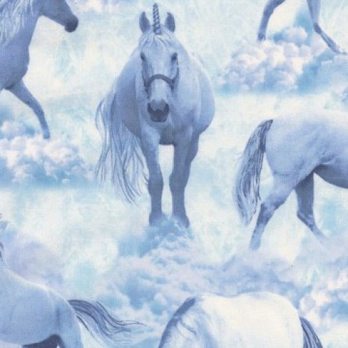 TIMELESS TREASURES - Fun - Unicorn Clouds - Blue