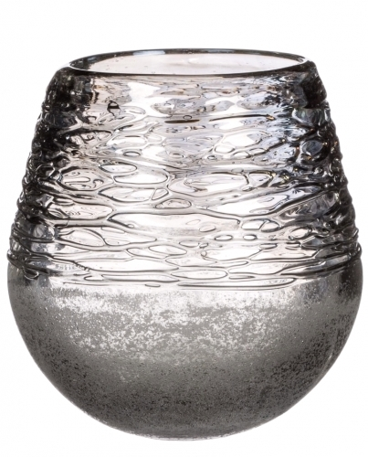 Sullivans Frosted Grey Glass Teardrop Vase 023271944439 Quilting