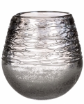 Sullivans Frosted Grey Glass Teardrop Vase
