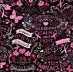 TIMELESS TREASURES - Gail - Pink Ribbon Chalkboard - Black