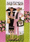 Sisters Greeting Card by Jody Houghton Designs