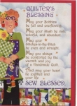 Quilter's Blessing Greeting Card by Jody Houghton Designs