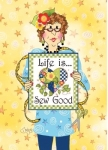 Life is Sew Good Greeting Card by Jody Houghton Designs
