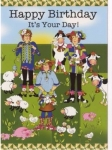Greeting Card Happy Birthday It's Your Day by Jody Houghton Designs