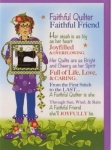 Greeting Card Faithful Quilter by Jody Houghton Designs