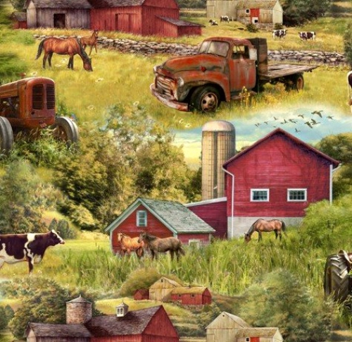 DAVID TEXTILES - Barns & Trucks - Multi