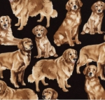 TIMELESS TREASURES - GM - Golden Retrievers - Golden