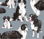 TIMELESS TREASURES - GM - Border Collies - Blue