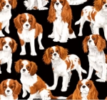 TIMELESS TREASURES - GM - Cavalier King Charles Spaniels - Black