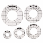 Good Measure - Low Shank Circles Set of 5 Quilting Templates by Amanda Murphy