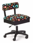 Arrow Adjustable Height Hydraulic Chair Black Sewing Drop Ship
