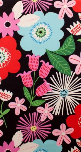 ALEXANDER HENRY - Fresh - Cotton Canvas - Black/Brite