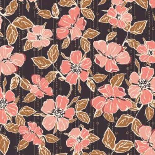 ART GALLERY FABRICS - Homebody - Crafted Blooms - Cacao