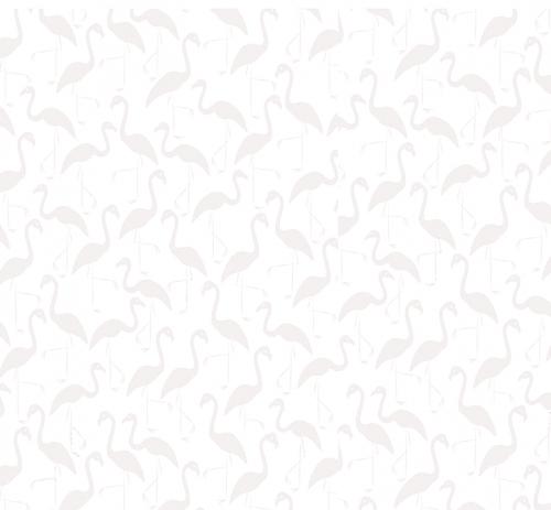 TIMELESS TREASURES - Hue - White On White Flamingos W102-