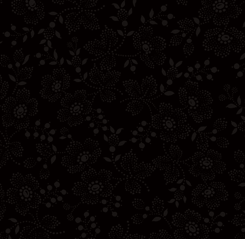 TIMELESS TREASURES - Hue - Black Flower Dots