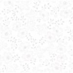 TIMELESS TREASURES - Hue - White On White Flower Dots W103-