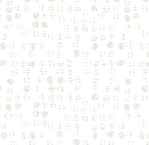 TIMELESS TREASURES - Hue - White Geo Dots W100-