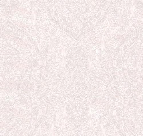 TIMELESS TREASURES - Hue - White On White Paisley W106-