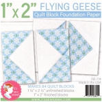 Flying Geese 1x2 inch Quilt Block Foundation Paper by Its Sew Emma
