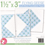 Flying Geese 1.5x3 inch Quilt Block Foundation Paper by Its Sew Emma