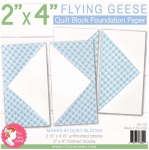 Flying Geese 2x4 inch Quilt Block Foundation Paper by Its Sew Emma