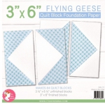 Flying Geese 3X6 inch Quilt Block Foundation Paper by Its Sew Emma