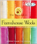 Aurifil - Farmhouse Wools Collection 10 Small Spools Wool by Farmhouse Woods