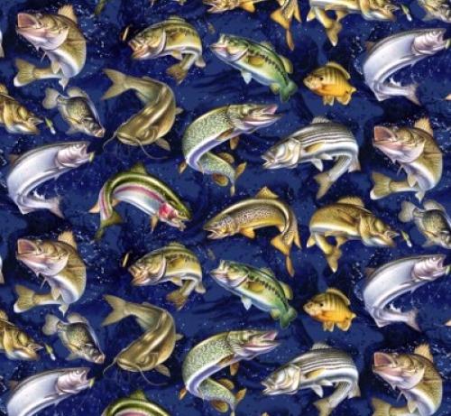 DAVID TEXTILES - Tropics - Fish Activity