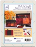 Zippity-Do-Done Black Cosmetic Bags Quilt As You Go by June Tailor