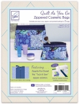 Zippity-Do-Done Navy Cosmetic Bags Quilt As You Go by June Tailor