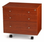 Kangaroo Kabinets Joey II Three Drawer Storage Cabinet for Sewing and Crafts Teak Drop Ship