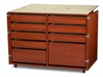 Kangaroo Kabinets Dingo II Nine Drawer Storage Cabinet for Sewing and Crafts Teak Drop Ship