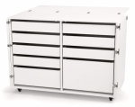 Kangaroo Kabinets Dingo II Nine Drawer Storage Cabinet for Sewing and Crafts White Drop Ship