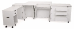 Kangaroo Kabinets Aussie II Sewing Cabinet White Drop Ship