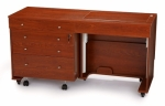 Kangaroo Kabinets Kangaroo Sewing Cabinet with Joey II Three Drawer Storage Cabinet Teak Drop Ship